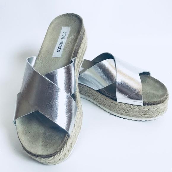 c5f235d4b6e1 Steve Madden ⭐ Arran Espadrille Platform Sandals. M 5b3ba029e944ba94a4d6f34f